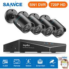 SANNCE 4CH 1080N DVR 720P CCTV IR Home Surveillance Security Camera System Night