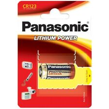 4x CR123A Foto-Batterien Lithium CR123 Photobatterien von PANASONIC Blister