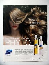 PUBLICITE-ADVERTISING :  PHYTO Huile Suprême/Soyeuse  2014 Coiffure