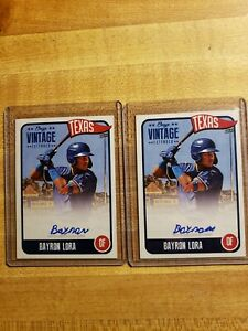 2020 ONYX VINTAGE EXTENDED bayron lora LOT (2) blue auto #'d to 275