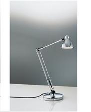 LAMPADA DA TAVOLO CROMATA ALOGENA GY6.35 12V MAX 35W 80X10CM ROSSINI P.5522-CR