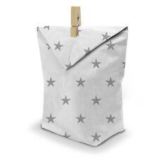 itenga 24x Geschenktüten und Klammern für Gastgeschenke Muster Sterne Weiß Grau