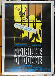 manifesto 2F film PRIGIONE DI DONNE Marilù Tolo Martine Brochard Erna Schurer