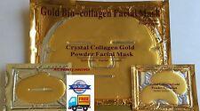(10+10+10) 10 Gold Face Facial Mask+10 Lip+10 Pair Eye Pad Pilaten Gloss AFA Lot