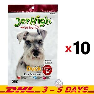 JerHigh Duck Stick Energy Dog Puppy Snack Treats Real Duck Meat 70g x 10