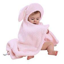 Clair de Lune Blanket Pink Hooded Bunny Ears Honeycomb Baby Girl