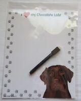 Chocalate Lab Magnetic Dry Erase Dog Memo Board Notepad Refrigerator Magnet