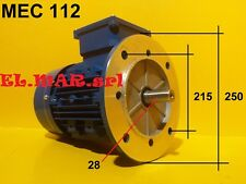 Faccia Capcap 0.25 a 3.7KW Tec MONOFASE motore elettrico 230V 50HZ piede flangia