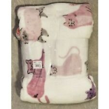 Kohl's The Big One Oversize Plush throw- Purple & Pink Cats- MAKES A GREAT GIFT