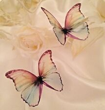Butterfly Wedding Table Decorations 5 Pastel 3D Rainbow Butterflies Hand Made