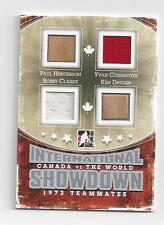 CANADA VS THE WORLD IN THE GAME 2011  QUAD STICK AND JERSEY CARD,
