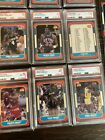 LOT OF 123 1986 FLEER BASKETBALL CARDS   W/10 PSA GRADED CARDS NO RESERVE