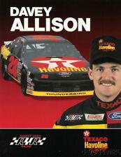 1991 Davey Allison Texaco Ford Thunderbird NASCAR Winston Cup postcard