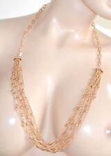 COLLAR largo mujer oro gargantilla alambres elegante bisutería strass piedra E23