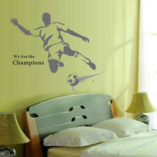 Football Player Boys Personalised Bedroom Wall Art Sticker DIY Decal Mural Decor
