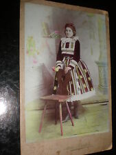 Cabinet photograph girl costume by Barton Uherske Hradiste Czech Republic c1890s
