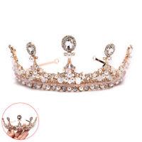 Baroque Crystal Rhinestone Wedding Crown Headband Bridal Tiara Party Qu~OJ