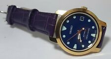 SEIKO Diver 6309 Automatic Vintage 17Jewel Blue Dial Date Men's Wrist Watch