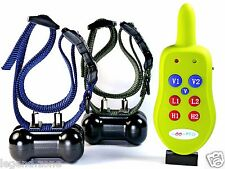 ALL Rechargeable Remote Control Dog Training Collar Shock,Vibration for 2 Dogs