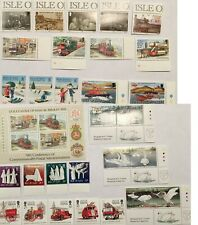 Isle of Man Souvenir Sheet, Swans, Fire Trucks, Boats, Christmas, Trains, 8 Sets