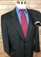 Corneliani Charcoal Slim Fit 2 Button Wool Suit Men's Size 42L 32x30 Italy