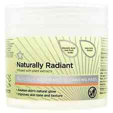 NATURALLY RADIANT Glycolic Acid Cleansing Pads 60pc Improve Skin Tone & Texture!