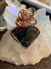 Wire Wrapped Azurite And Malachite Pendant