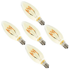 5X 3W Dimmbar E14 LED Spiral Filament Glühfaden Lampe Birne Bernstein Glas 2200K