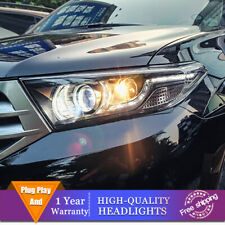 For Toyota Highlander Headlight Double Lens Beam Projector HID LED DRL 2011-2013