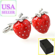 Cuff Links With Gift Box Hot Sale Men Cufflinks Strawberry
