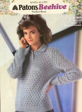 Patons  4ply Knitting Pattern Ladies  Sweater Jumper   Size 28/40""