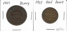 1927 Australian Penny & Halfpenny