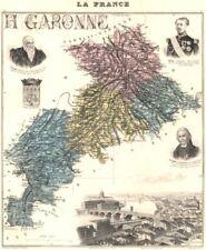 HAUTE-GARONNE. Haute-Garonne département.Toulouse vignette.Vuillemin 1903 map