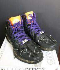 Autographed Goran Dragic #1 Men's Adidas NBA Phoenix Suns Sneakers Black Purple