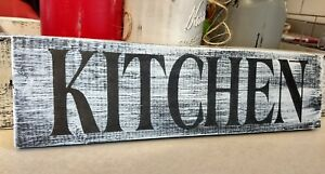 farmhouse wood sign KITCHEN wooden rustic farm country 3.5x12 shelf sitter decor