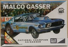 FORD MUSTANG FUNNY CAR WHITE MALCO GASSER OHIO GEORGE DRAG SEALED MPC MODEL KIT
