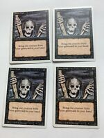4x Vintage Playset of Raise DEAD MTG 3rdRevised Magic the Gathering
