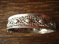 herrlicher Jugendstil Armreif feines Durchbruch Muster 900er Silber Handarbeit