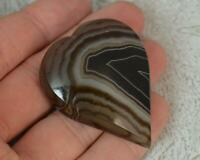 Victorian Heart Shaped Single Agate Brooch