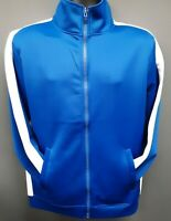 Men's Rebel Minds Front Full Zip Track Jacket - Royal Blue/White