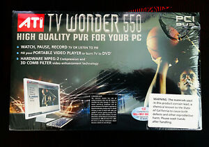 ATI TV Wonder 550 PCI NTSC UNOPENED NEW IN BOX