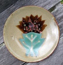 "11"" Hand Thrown Art Pottery ""Kiss Me"" Frog Signed on Front of Plate"
