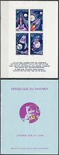 Dahomey 1970 ** Bl.17 Epreuve de Luxe Proof Cardboard in Folder Weltraum Space