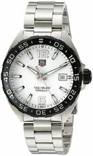Tag Heuer Formula 1 White Dial Steel Quartz Men Watch Carbide WAZ1111.BA0875