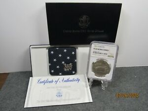 1991 S USO silver commenorative NGC PF 69 UC with box and COA