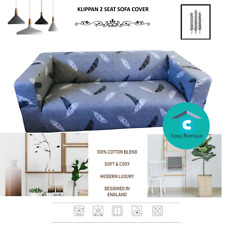IKEA Klippan Sofa Cover Replacement 2 Two Seat Blue Floral Mattsbo Grey Pattern