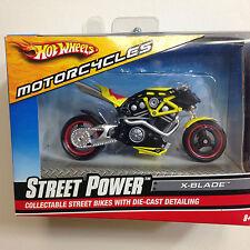2008 STREET POWER X-BLADE DIECAST REPLICA MOTORCYCLE BY HOT WHEELS 1:18 NIB
