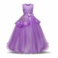 Flower Girl Princess Dress Kids Party Wedding Bridesmaid Formal Tutu Dresses