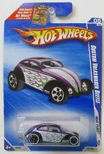 Hot Wheels ~ Heat Fleet '09 #121 Custom Volkswagen Beetle ~ Purple/White