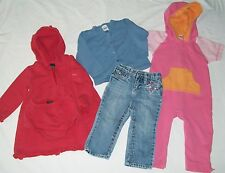 Baby Gap Nautica Lot Girls 18-24 Month Jeans Shirt Long Hooded Romper Dress